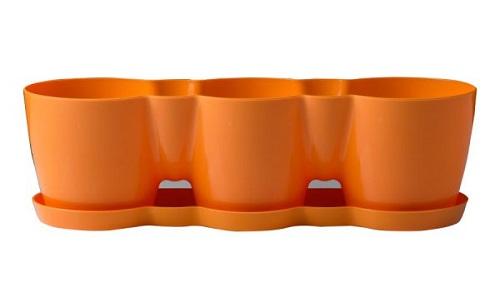 گلدان پلاستیکی سه تایی